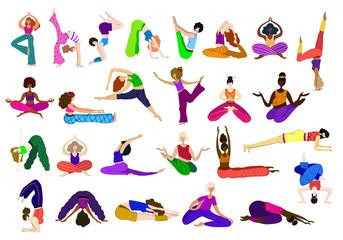 Yoga girls vector