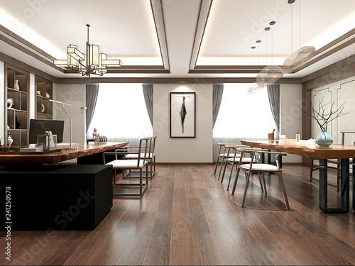 3d render modern office interior