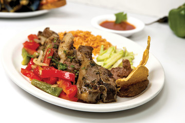 platter of lamb chops mexican style