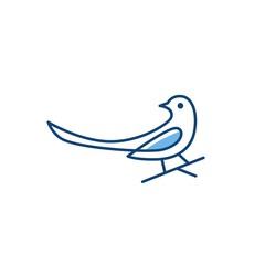 magpie bird logo vector icon illustration