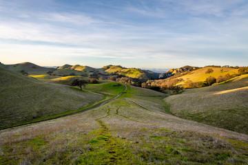 Diablo Foothills Regional Park at Sunset Fotobehang