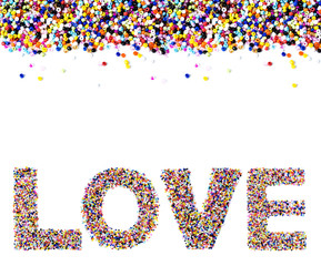 LOVE/ love material background/letter poster
