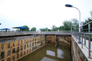 Sewage treatment plant oxidation ditch