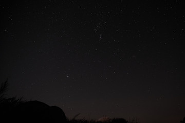 """Picture of the night sky. Constellation """"Orion""""."""
