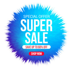 Abstract sale banner for special offers, sales and discounts. 60% off. Vector illustration