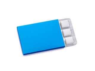 Pack of Chewing Gum isolated on white with clipping path