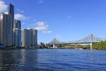 The Story Bridge spanning over the Brisbane River Queensland Australia