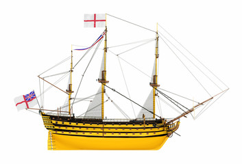 Seitenansicht der HMS Victory, Freisteller