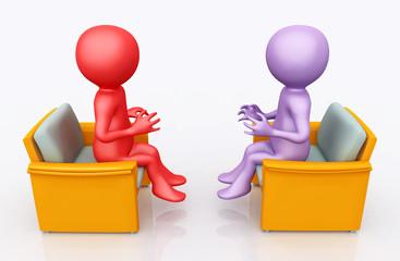 Diskussion mit 3D Figuren