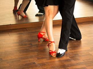 Ballroom dance salsa dancers