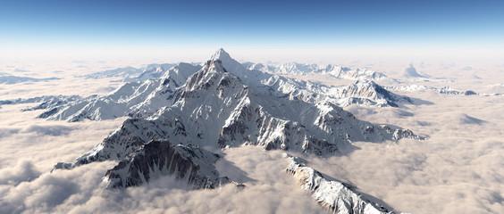 Bergpanorama über den Wolken