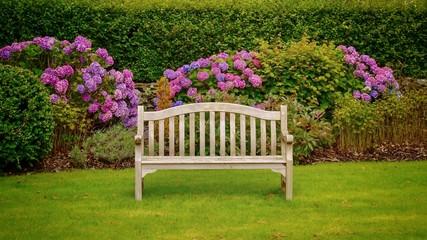 Garden Bench Fototapete