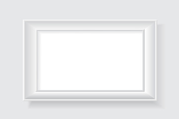 Vintage white frame for image