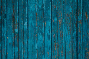 Blue wooden background.