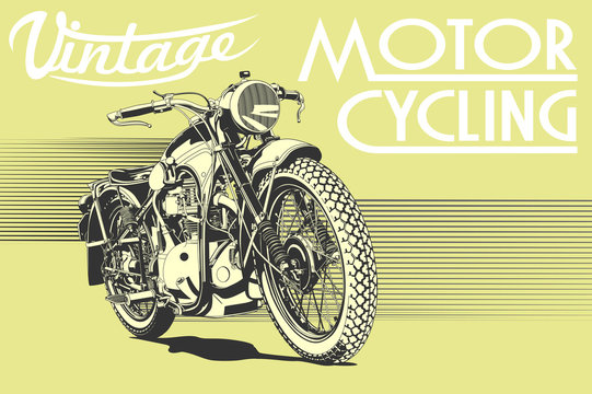 vintage motorcycle illustration