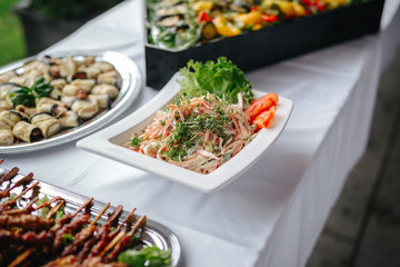 food at a wedding