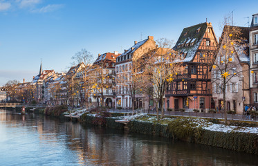 Straßburg im Winter