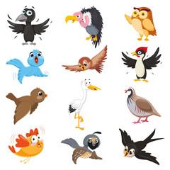 Vector Illustration Of Cartoon Birds