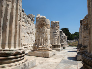 Photo sur Aluminium Pays d Europe Temple of Apollo in antique city of Didyma, Turkey