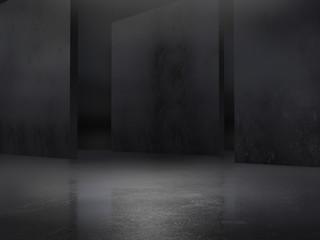 Pedestal,Platform.Product showcase background.3D rendering