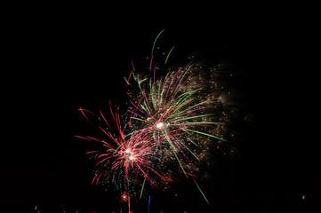 Line of fireworks.