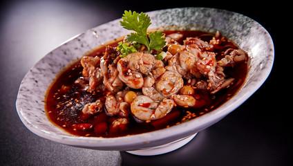 Chinese food, spicy bullfrog