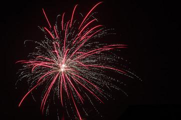 Fireworks on New Yaer's Eve in Pruszcz Gdanski.