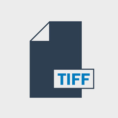 Tag Image File Format (TIFF) file format Icon on gray background