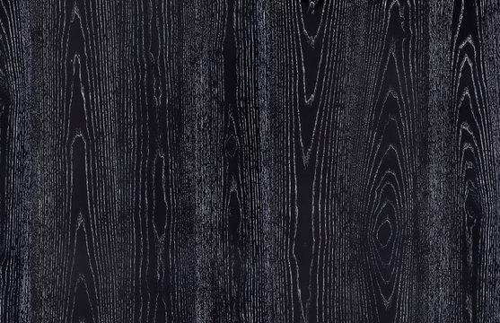 Natural oak veneer painted in black color with white patina.