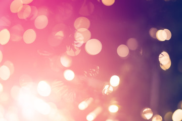 abstract festive bokeh background light and colorful christmas decoration