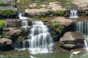 Beautiful Waterfall In Summer