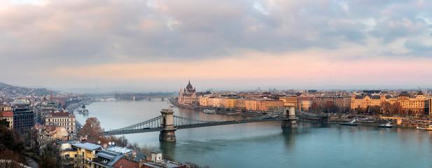 Panorama of Budapest Hungary