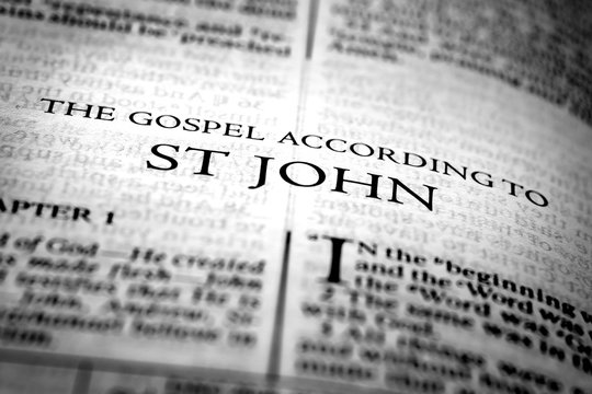 Bible New Testament Christian Gospel of St John Saint