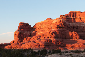 Red Rock Formations Near Canyonlands National Park, Utah.