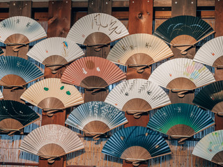 a selection of japanese fan