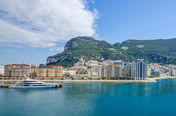 Harbor, the Bay and the Rock of Gibraltar