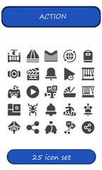 Vector icons pack of 25 filled action icons
