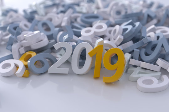 layout of the business calendar cover for 2019