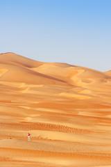 Blue Sky and Orange Dunes