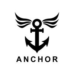 ship anchor vector design