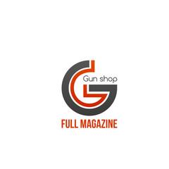 Gun shop vector icon