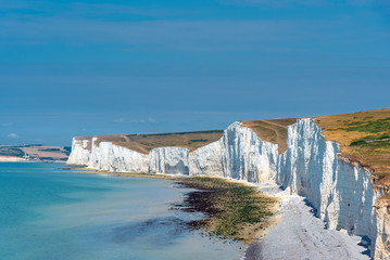 The white chalk cliffs at the south coast of England Fotomurales