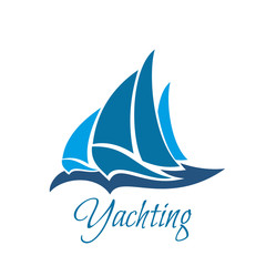 Yachting organization vector icon