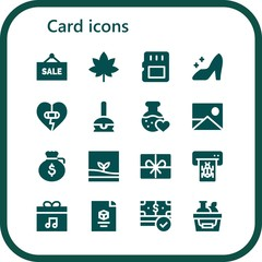 Vector icons pack of 16 filled card icons