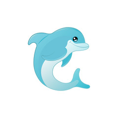 Dolphin vector drawing icon
