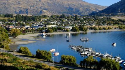 Wanaka marina & lakefront, Summer, Wanaka, New Zealand