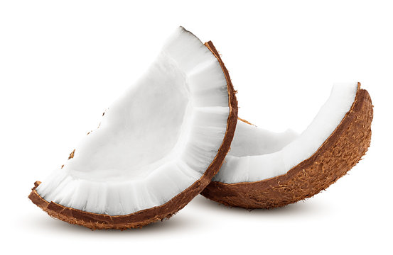 coconut, isolated on white background, full depth of field, clipping path