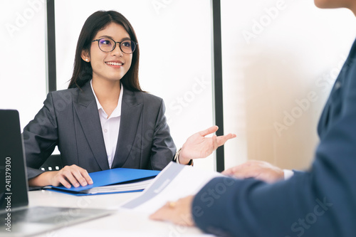 Business situation, job interview concept