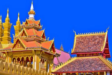 laos,ventiane : pha that luang : great stupa