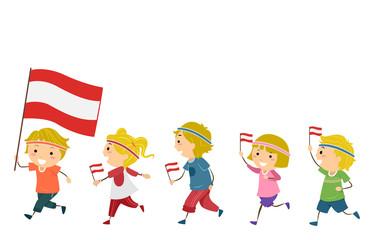 Stickman Kids Austria National Day Fitness Parade